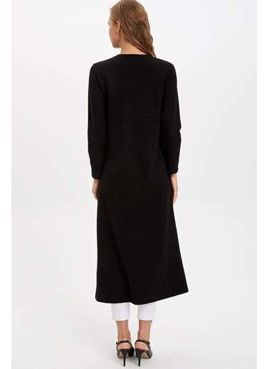 DeFacto Bağlama Detaylı Örme Elbise Siyah